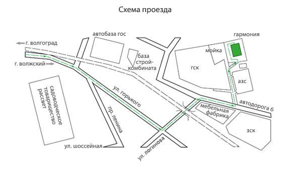 Схема проезда к оптовому